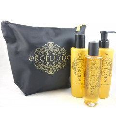 Revlon pack Oro fluido ,elixir+acondicionador y champu